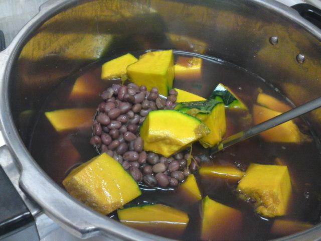 まず小豆そしてかぼちゃ