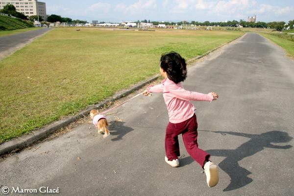 061001娘さんとマロンのプチ散歩