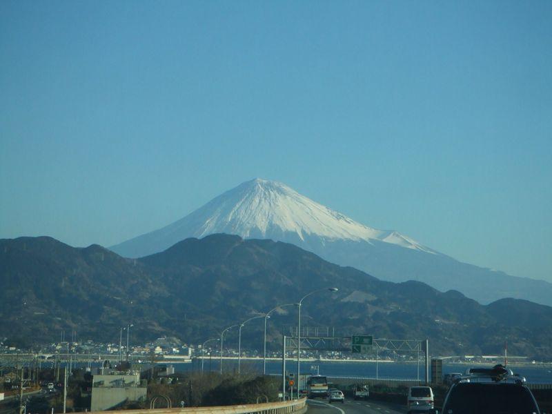 富士山車窓から