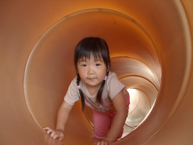 トンネルの滑り台