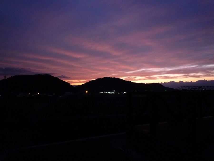 綺麗な夕闇です