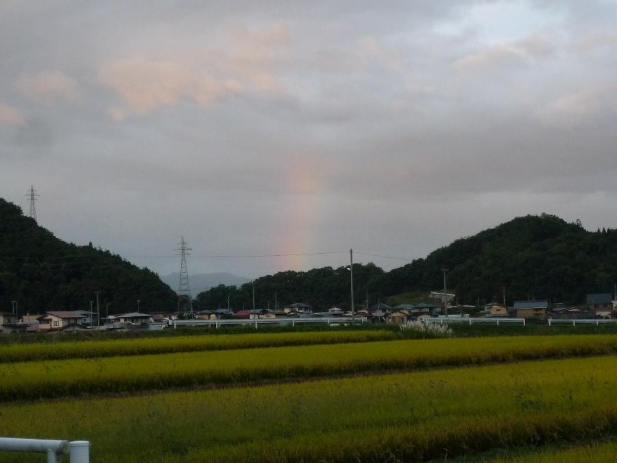 虹が・・・!