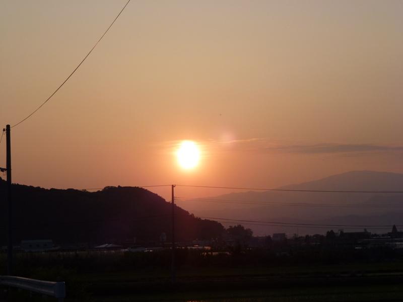 真っ赤な夕日♪